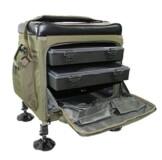 Sitzkiepe Angelbox Session Box inklusive Tackle Boxen 52 x 40 x 32 cm