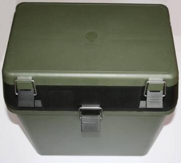 Sitzkiepe mit Angelbox dunkelgrün/ schwarz