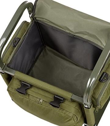 Sitztrolley Angler Sitzkiepe aus Aluminium oliv onesize